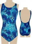 Style 1747/290 - Ceeb Mastectomy Swimsuit - Animal Print - Higher Neck - New!