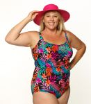 Style THE 963-80/748 -  T.H.E. Mastectomy Shirred Girl Leg Swimsuit