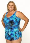 Style THE 965-80/746 -  T.H.E. Mastectomy Sarong Bathing Suit with Pocketed Bra-QUEEN SIZE