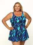 Style THE 996-80/749 -  T.H.E. Mastectomy Swim Dress - Best Seller-QUEEN SIZE