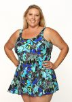 Style THE 996-80/752 -  T.H.E. Mastectomy Swim Dress - NEW PRINT-QUEEN SIZE