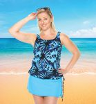 Style THE 16-60/742 -  T.H.E. Mastectomy Swim Tank Top With Draw String