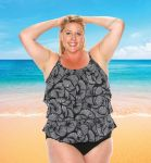 Style THE 43-80/740 -  T.H.E. Mastectomy 3 Ruffled Swim Tank - Mix 'n Match Bottoms