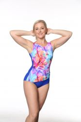 Style THE 1008-60/753/440 -  T.H.E. Mastectomy One Piece Swim Suit with Draped Front