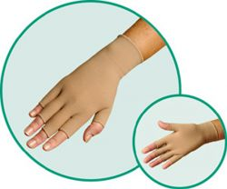 Style 1101fingerstub - Juzo Gauntlet with Thumb and Finger Stubs - New From Juzo!  Low Price!