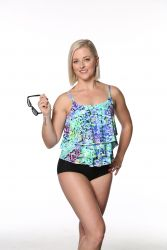 Style THE 43-60/756 -  T.H.E. Mastectomy 3 Ruffled Swim Tank - Mix 'n Match Bottoms