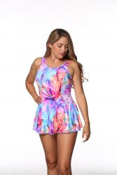 Style THE 996-60/753 -  T.H.E. Mastectomy Swim Dress - Waist Cinchers