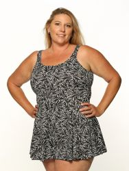 Style THE 996-80/747 -  T.H.E. Mastectomy Swim Dress - Waist Cinchers-QUEEN SIZE