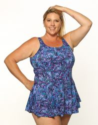 Style THE 996-80/750 -  T.H.E. Mastectomy Swim Dress - Great Fit-QUEEN SIZE