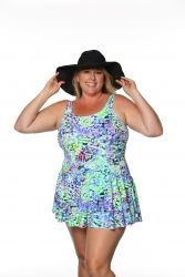 Style THE 996-80/756 -  T.H.E. Mastectomy Swim Dress - Panty and Skirt Attached