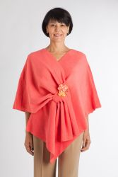 Style WILFCL 502 -  Chemo Port Accessible Coral Fleece Shoulder Wrap