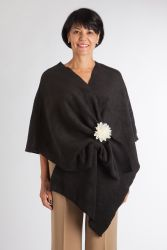 Style WILFB 504 -  Chemotherapy Port Accessible Black Fleece Wrap