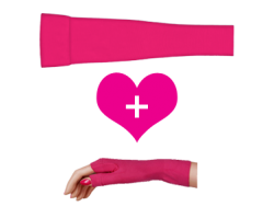Style fuchsia - Solid Color Sleeve & Gauntlet Sets