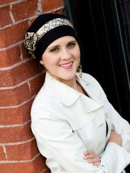 Style 325 - Print Band 3-Seam Turban with Rosette #325