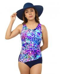 Style THE 1008-60/765/410 -  T.H.E. Mastectomy Draped Waist - One Piece Bathing Suit
