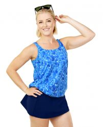 Style THE 16-80/761 -  T.H.E. Mastectomy Blouson Top - Great Fit - Queen Size