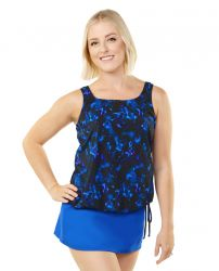 Style THE 16-60/763 -  T.H.E. Mastectomy Tank Strap Blouson - Orchids New Print