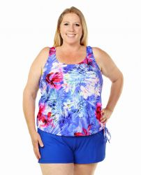 Style THE 16-80/753 -  T.H.E. Mastectomy Blouson Top - Tropical Print Queen Size