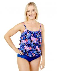 Style THE 943-60/760/440 -  T.H.E. Mastectomy Triple Tier Bathing Suit Perfect Camouflage