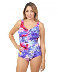 Style 962-60/764 -  T.H.E. Mastectomy Draped Front One Piece Bathing Suit