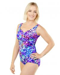 Style 962-60/765 -  T.H.E. Mastectomy Draped Front - One Piece Swim Suit