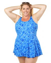 Style THE 996-60/761 -  T.H.E. Mastectomy Sarong Bathing Suit with Pocketed Bra