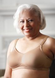Style ABC 501 -  American Breast Care Mastectomy Bra - New Seamless Bra! - Comes With Clear Plastic Straps
