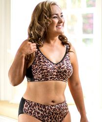 Style ABC 513 -  American Breast Care New Leopard Print Soft Contour Bra and Panty
