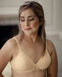 Style ABC 105 -  American Breast Care Petite T-Shirt Seamless Mastectomy Demi Bra - NOW IN AA CUPS