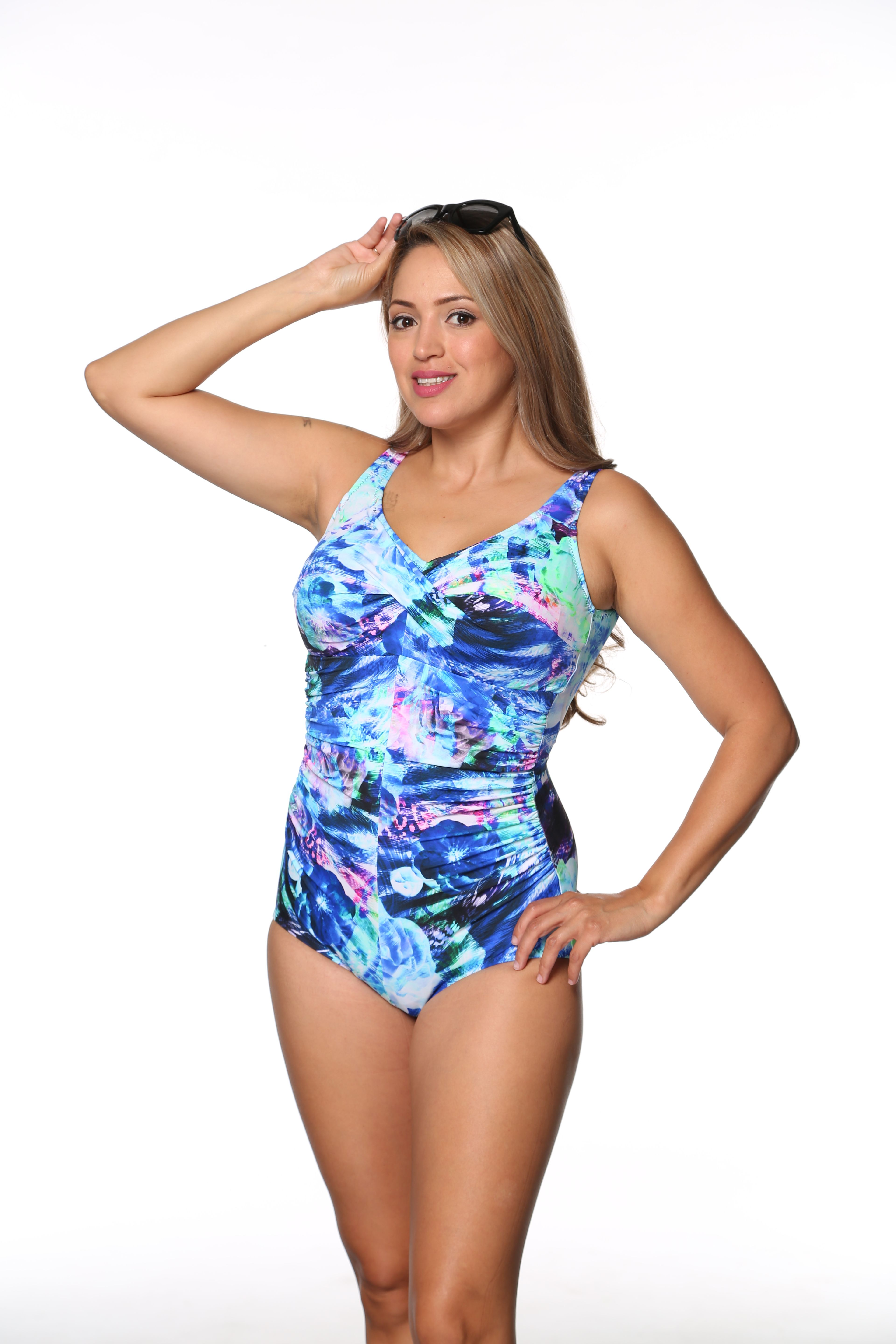 79138b334510b Style 962-60 758 - T.H.E. Mastectomy High Neckline Swim Suit SIZE 4 TO