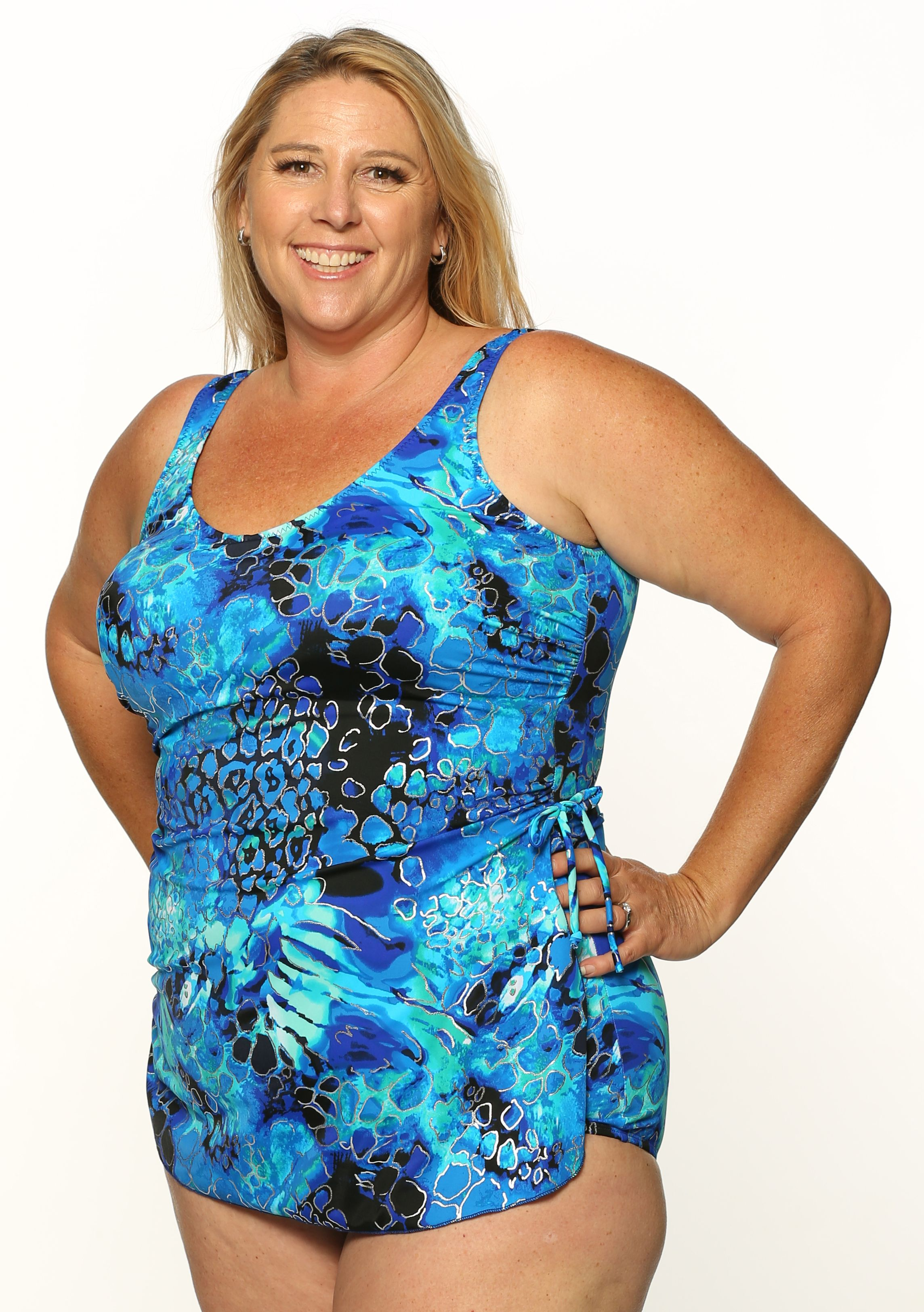 867879897f0 Style THE 965-80/746 - T.H.E. Mastectomy Sarong Bathing Suit with Pocketed  Bra