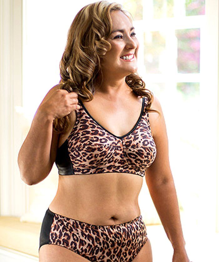 decf76500a Style ABC 513 - American Breast Care New Leopard Print Soft Contour Bra and  Panty