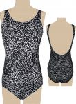 "Style 1747/401 - Ceeb Mastectomy Swimsuit  ""Shattered"" Print - New! - Higher Neck"