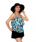 Style THE 43-60/731 -  T.H.E. Mastectomy 3 Ruffled Swim Tank