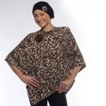 Style WILTSBP 401 -  Leopard Print Poncho and Head Wrap Set