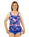 Style THE 16-60/760 -  T.H.E. Mastectomy Swim Tank Top With Draw String - Water Colors New Print