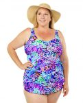 Style THE 965-60/759 -  T.H.E. Mastectomy One Piece Swim Suit with Sarong Panel In Front